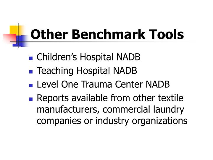 Other Benchmark Tools