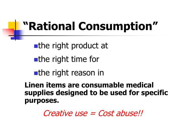 """Rational Consumption"""