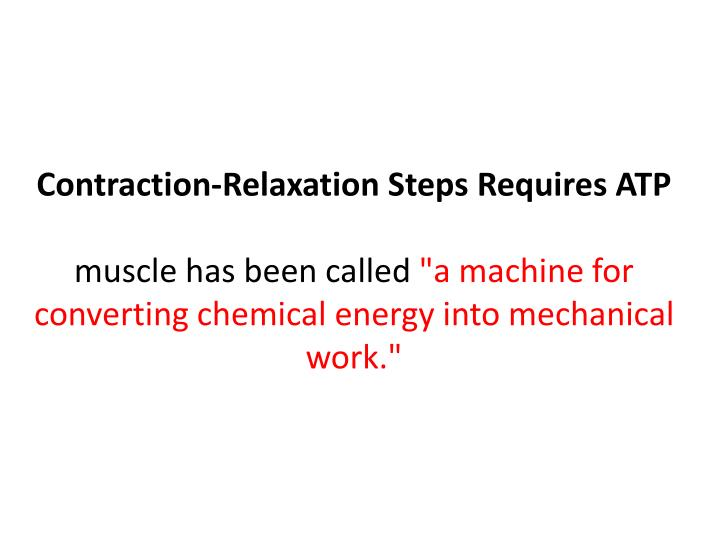 Contraction-Relaxation Steps