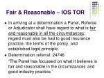 fair reasonable ios tor