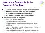 insurance contracts act breach of contract