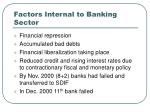 factors internal to banking sector