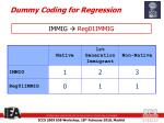 dummy coding for regression