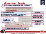 regression details