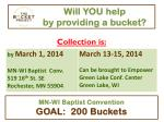 will you help by providing a bucket