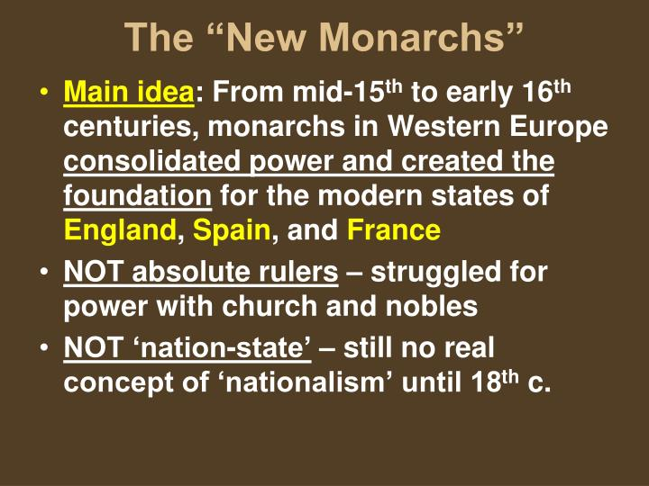 absolute vs new monarchs essay Free essay: the view of absolute monarchies the extent to which rulers and their subjects viewed the role of an absolute monarch was  essay absolute vs new monarchs.
