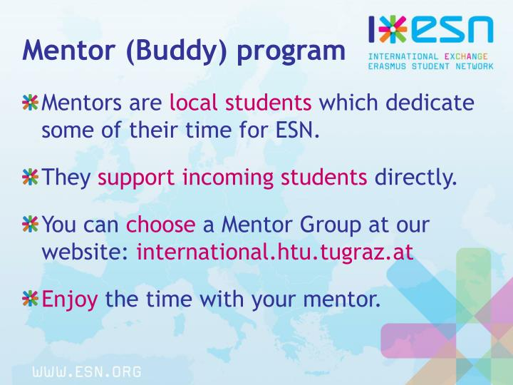 Mentor (Buddy) program