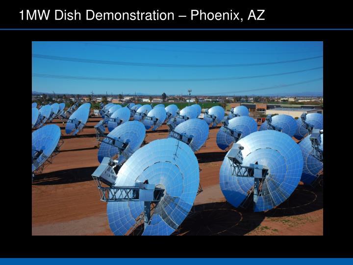 1MW Dish Demonstration – Phoenix, AZ