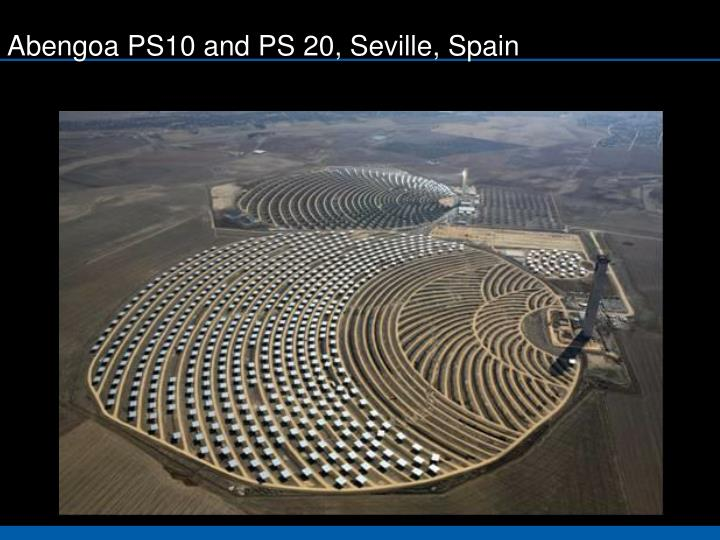 Abengoa PS10 and PS