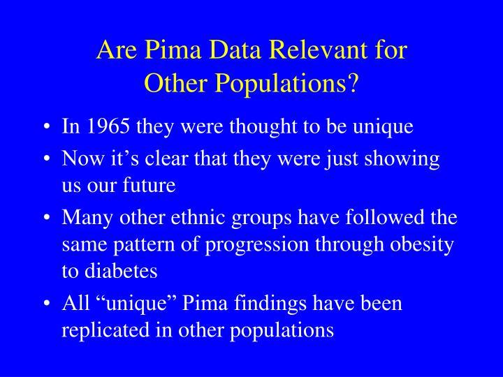Are Pima Data Relevant for