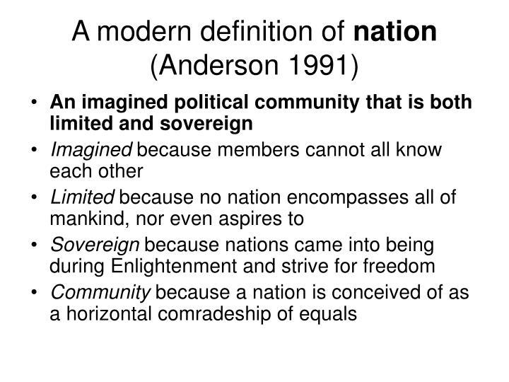 A modern definition of