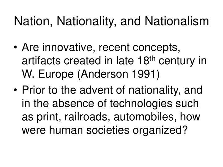 Nation nationality and nationalism
