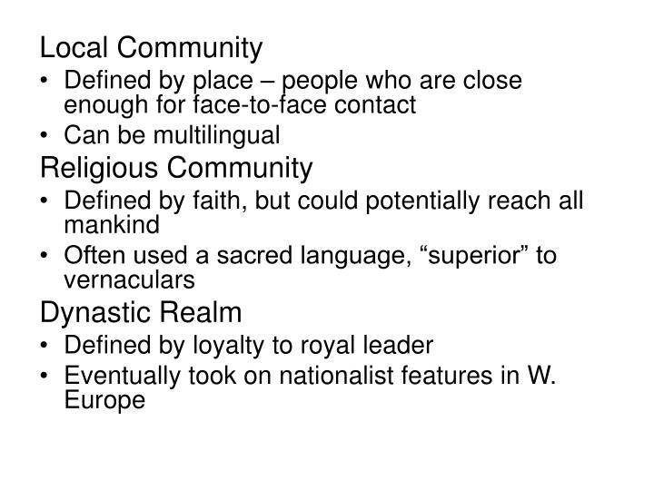 Local Community