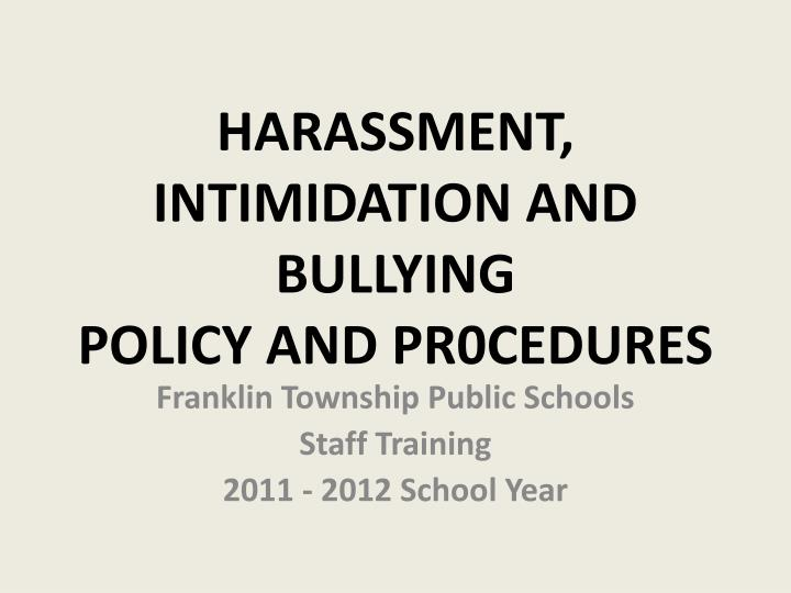 whole school bullying policy As a school we take bullying seriously pupils and parents should be assured that they will be supported when bullying is reported staff are regularly reminded to refer to the school anti-bullying policy for guidance, and behaviour of individual pupils is regularly highlighted through.