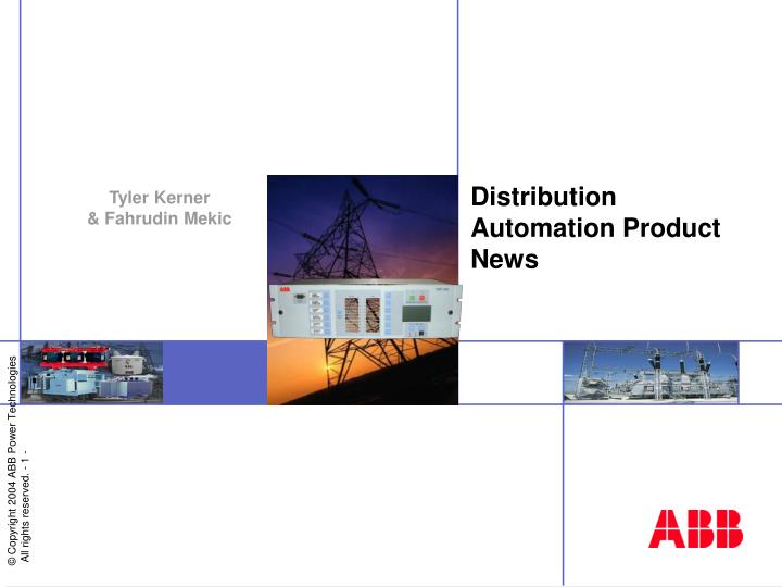 distribution automation product news n.