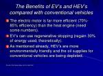 the benefits of ev s and hev s compared with conventional vehicles