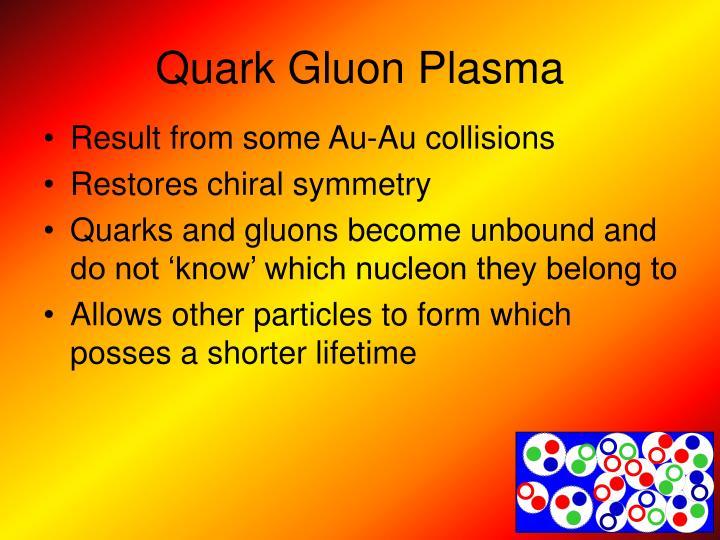 Quark Gluon Plasma