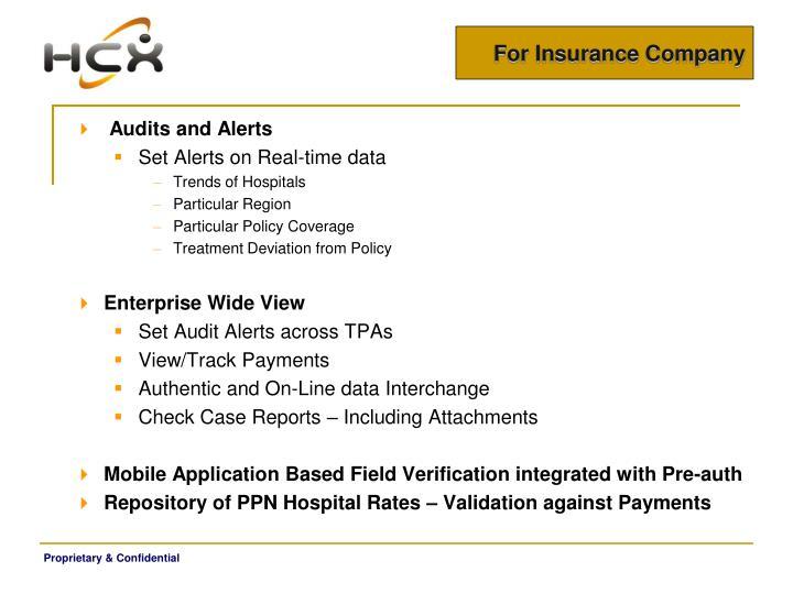 For Insurance Company