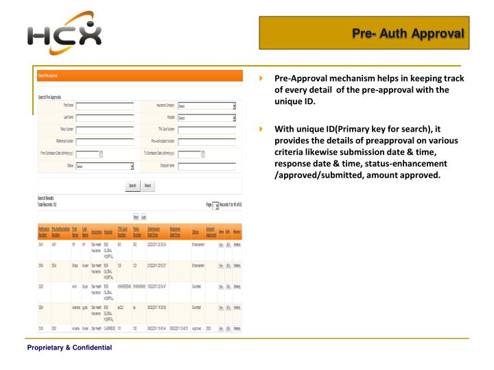 Pre- Auth Approval