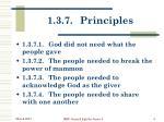 1 3 7 principles