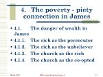 4 the poverty piety connection in james