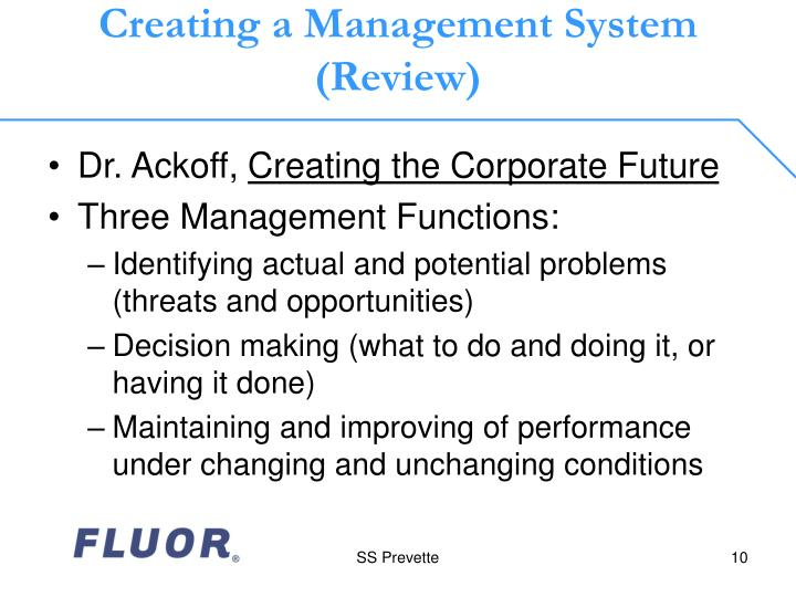Creating a Management System (Review)