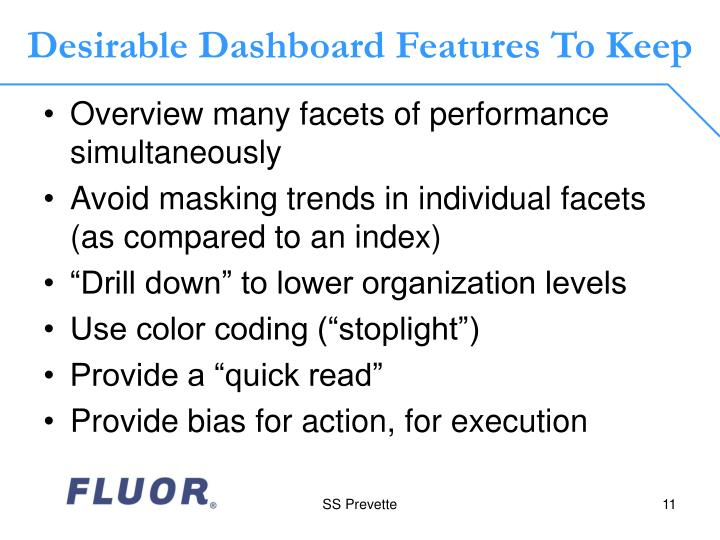 Desirable Dashboard Features To Keep