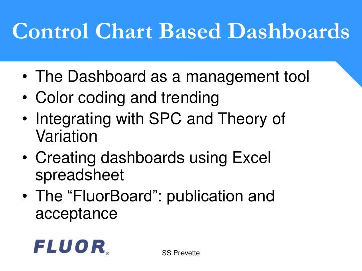 Control Chart Based Dashboards