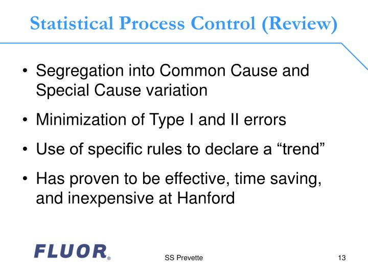 Statistical Process Control (Review)