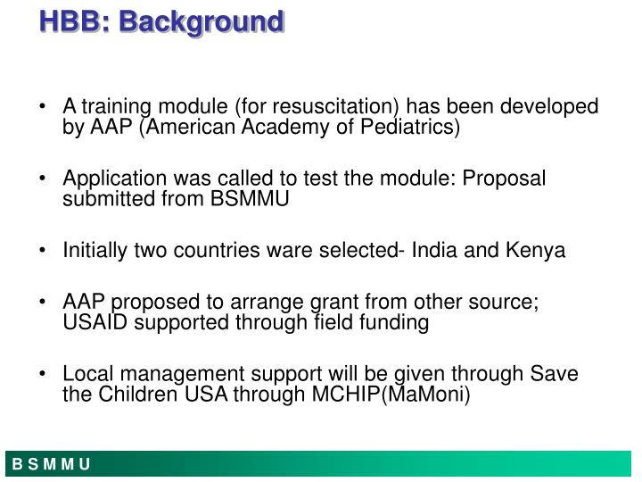 A training module (for resuscitation) has been developed by AAP (American Academy of Pediatrics)