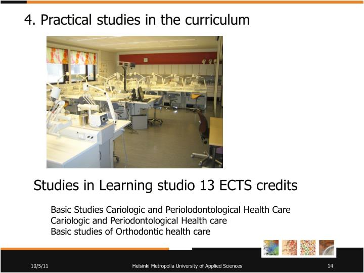 Studies in Learning studio 13 ECTS