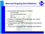 new and ongoing djj initiatives