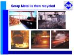 scrap metal is then recycled
