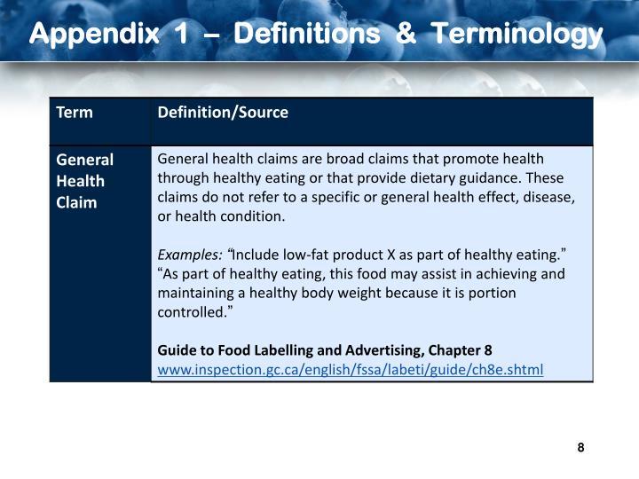 Appendix  1  –  Definitions  &  Terminology