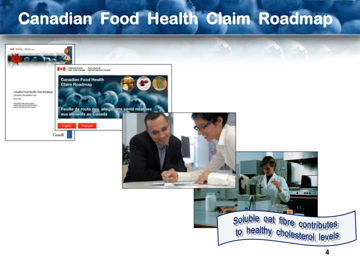 Canadian  Food  Health  Claim  Roadmap