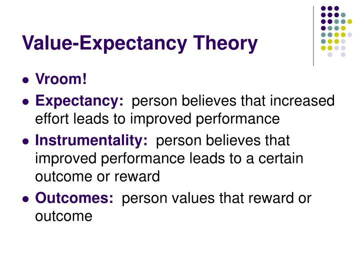 Value-Expectancy Theory