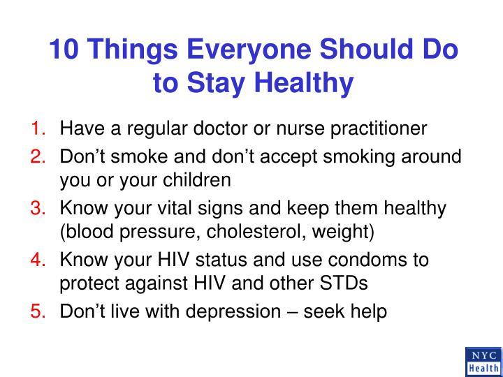 10 Things Everyone Should Do