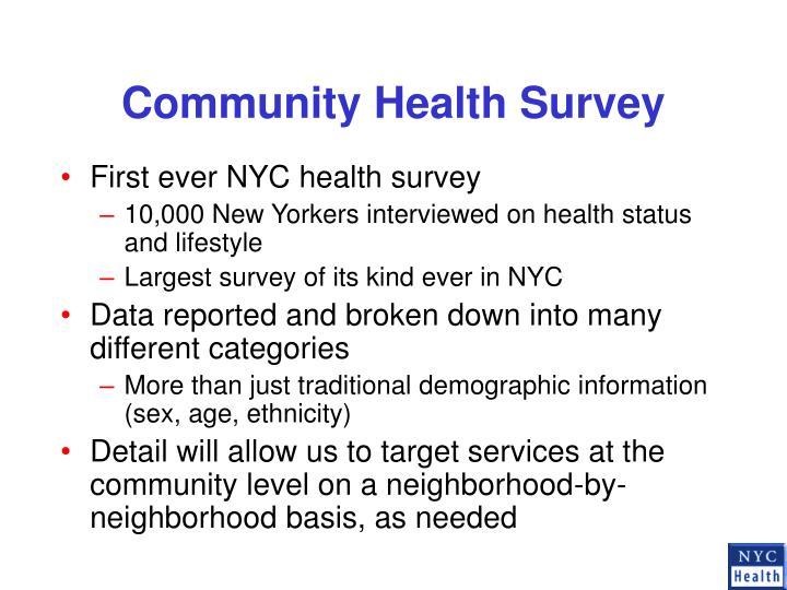 Community health survey