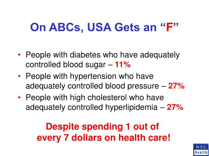 "On ABCs, USA Gets an """