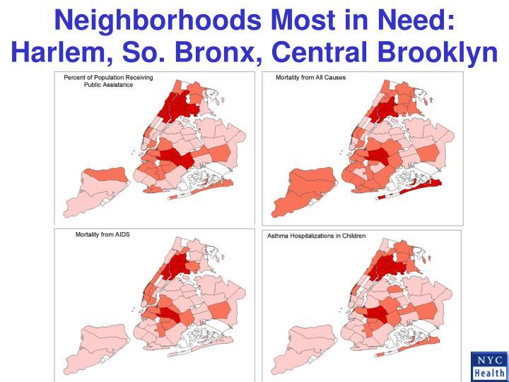 Neighborhoods Most in Need: