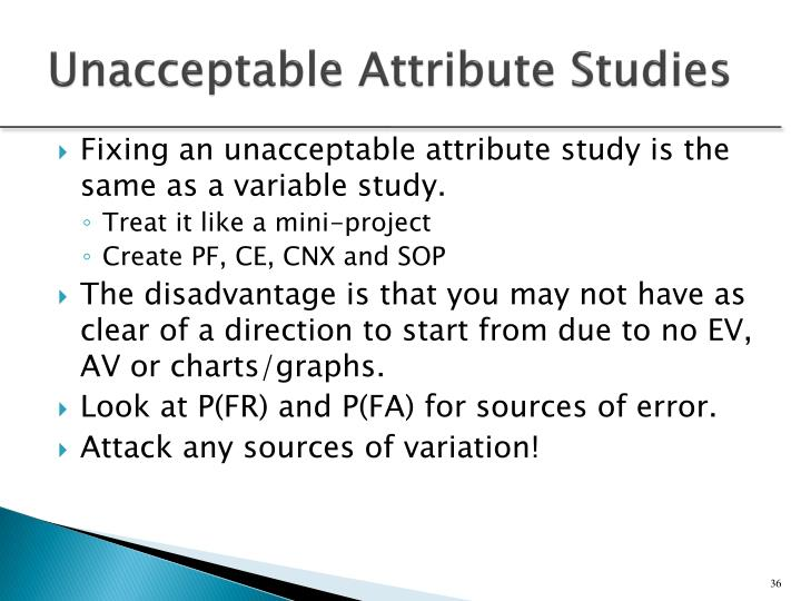 Unacceptable Attribute Studies