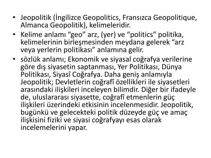 Jeopolitik (İngilizce