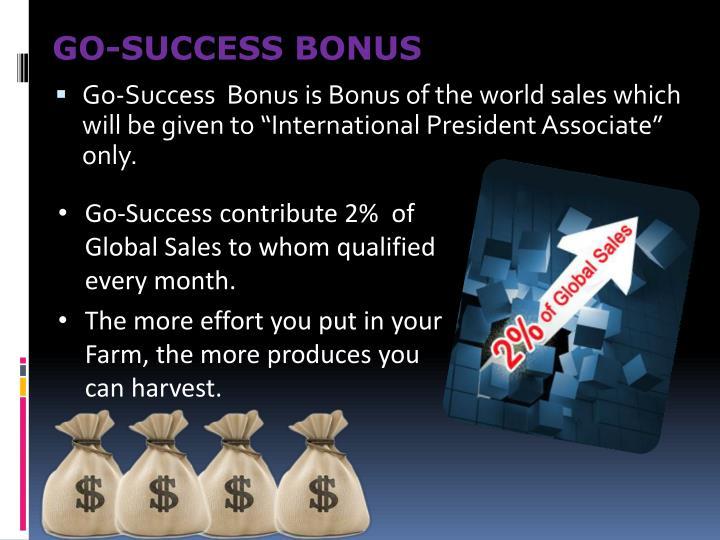 GO-SUCCESS BONUS