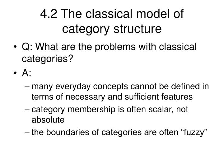 4.2 The classical model of