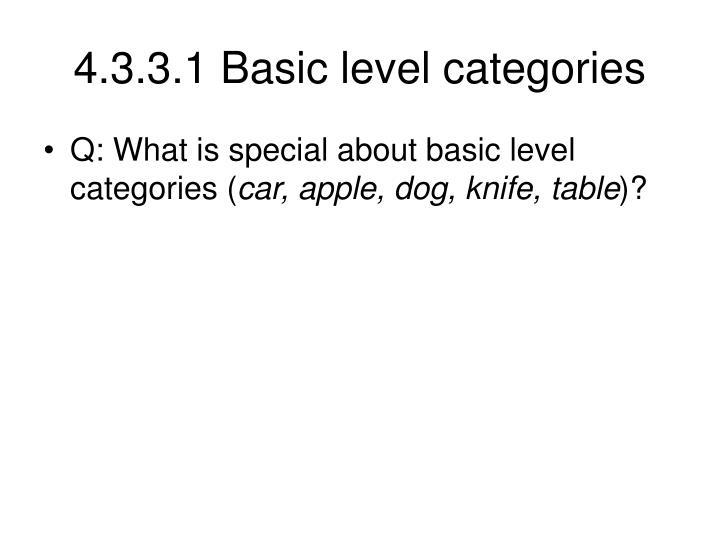 4.3.3.1 Basic level categories