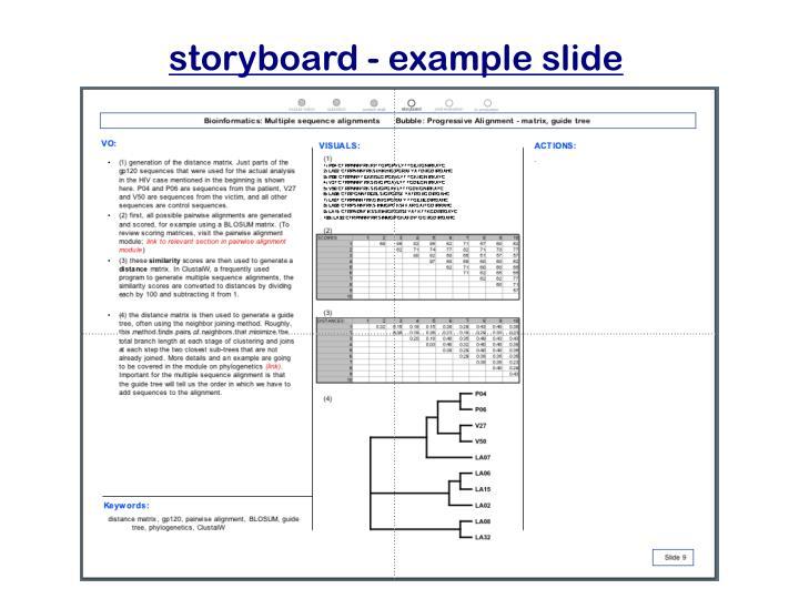 storyboard - example slide