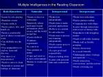 multiple intelligences in the reading classroom1