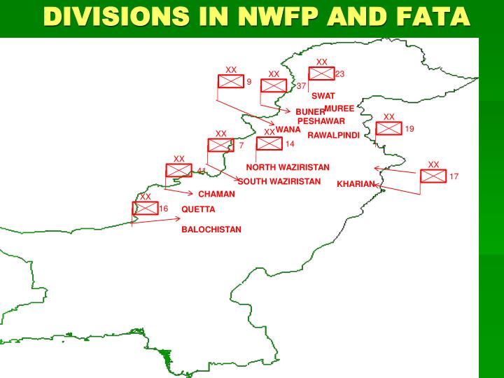 DIVISIONS IN NWFP AND FATA