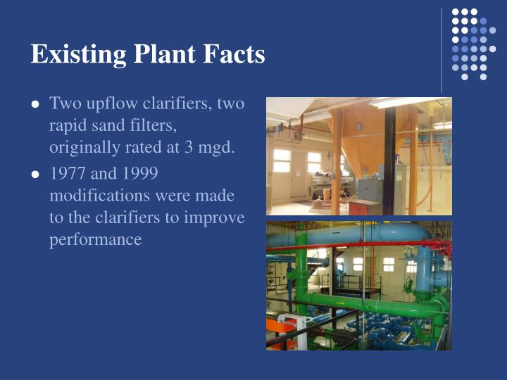 Existing plant facts