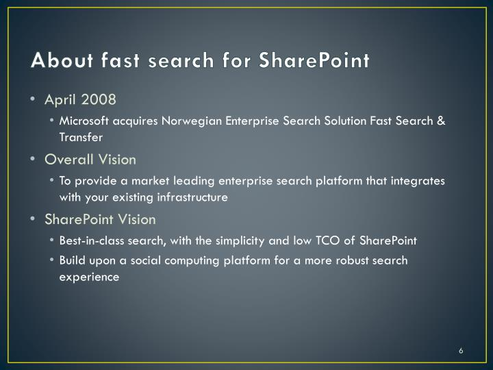 About fast search for